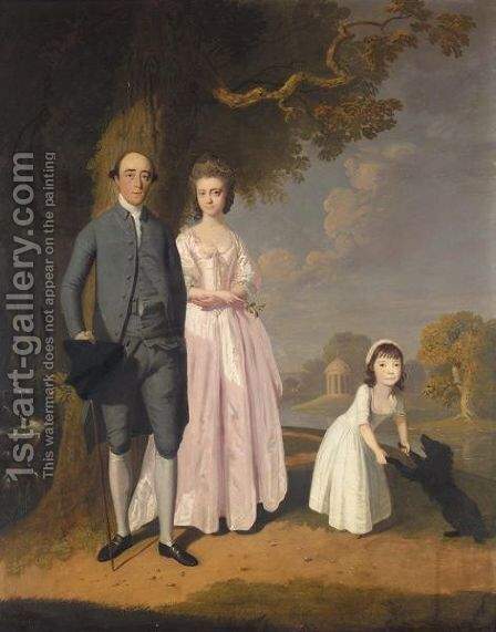 Portrait Of The Turner Family by James Miller - Reproduction Oil Painting
