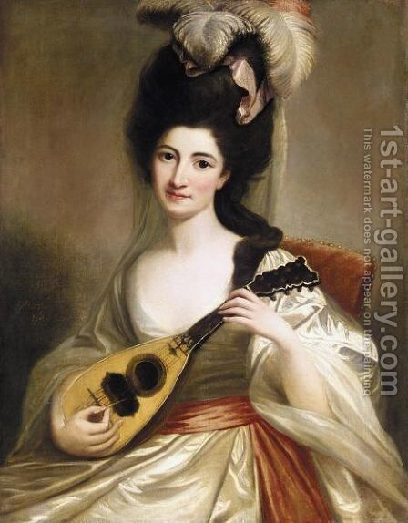 Portrait Of A Lady by David Martin - Reproduction Oil Painting