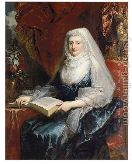 Portrait Of Mrs. Beckford by Benjamin West - Reproduction Oil Painting