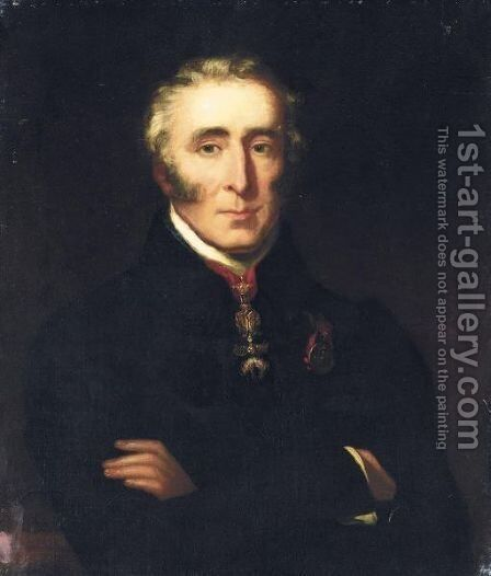 Portrait Of Arthur Wellesley, Duke Of Wellington by (after) Henry Perronet Briggs - Reproduction Oil Painting