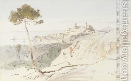 Cannes, France by Edward Lear - Reproduction Oil Painting