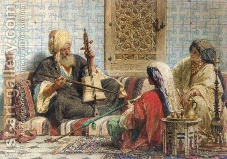 Music In The Harem by Carl Haag - Reproduction Oil Painting