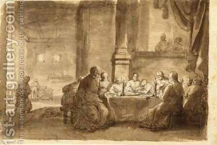 The Last Supper by Claes Cornelisz Moeyaert - Reproduction Oil Painting
