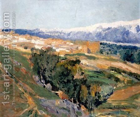 The Guadarrama Mountains 2 by Aureliano de Beruete y Moret - Reproduction Oil Painting