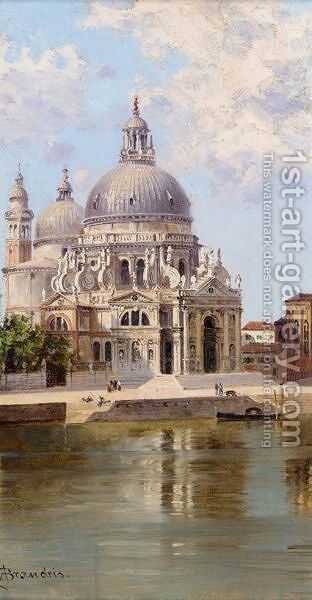 Santa Maria Della Salute, Venice 3 by Antonietta Brandeis - Reproduction Oil Painting