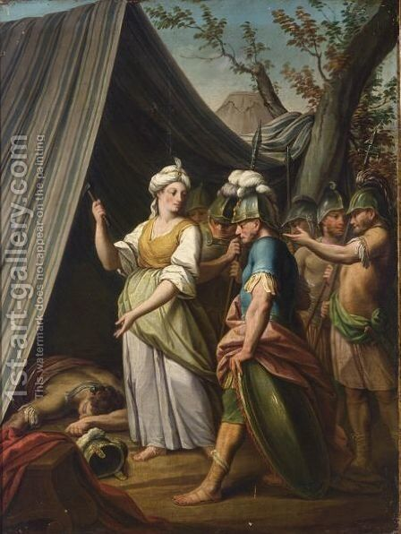 Jael And Sisera by Dutch School - Reproduction Oil Painting