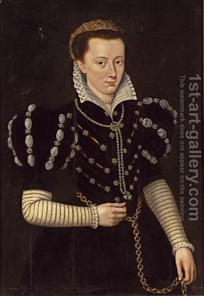 A Portrait Of A Noble Lady by (after) Mor, Sir Anthonis (Antonio Moro) - Reproduction Oil Painting
