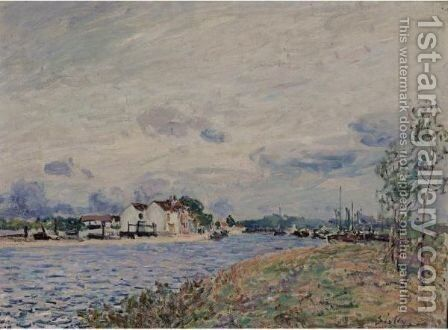 L'Embouchure Du Loing A Saint-Mammes by Alfred Sisley - Reproduction Oil Painting