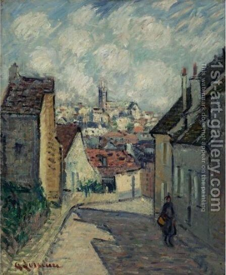 Rue A Pontoise by Gustave Loiseau - Reproduction Oil Painting
