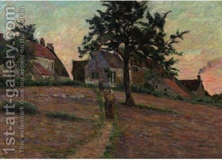 Chemin A Damiette, Soleil Couchant by Armand Guillaumin - Reproduction Oil Painting