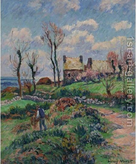 Environs D'Audierne by Henri Moret - Reproduction Oil Painting