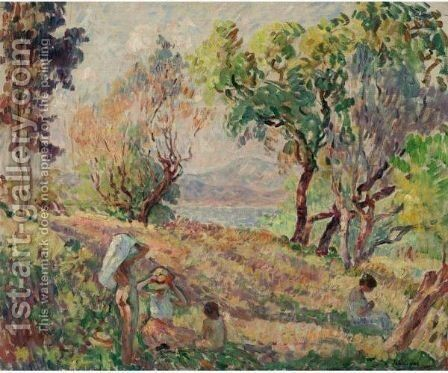Paysage 3 by Henri Lebasque - Reproduction Oil Painting