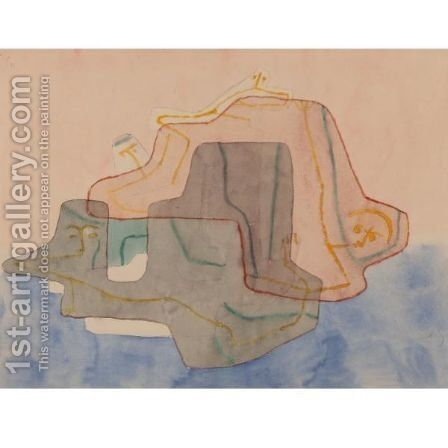 Mythos Einder Insel (Myth Of An Island) by Paul Klee - Reproduction Oil Painting