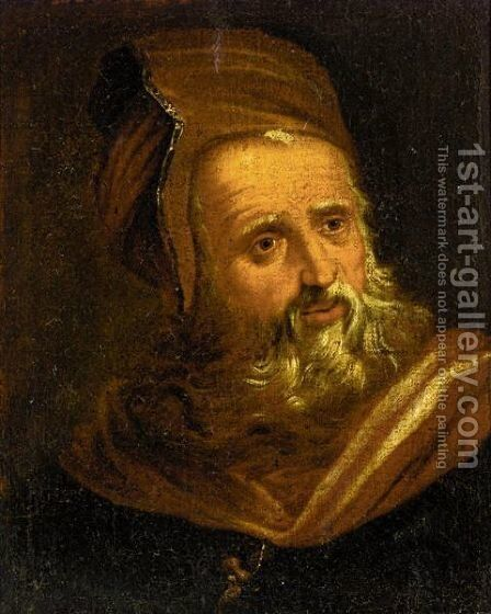 Portrait Of An Old Man, Head And Shoulders, In Oriental Dress by (after) Paolo Veronese (Caliari) - Reproduction Oil Painting