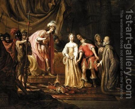 The Continence Of Scipio by (after) Nicolaes Knupfer - Reproduction Oil Painting