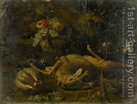 Still Life With A Deer by (after) Jan Van Kessel - Reproduction Oil Painting