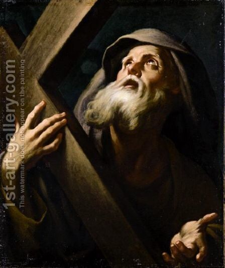 Saint Peter 2 by Neapolitan School - Reproduction Oil Painting