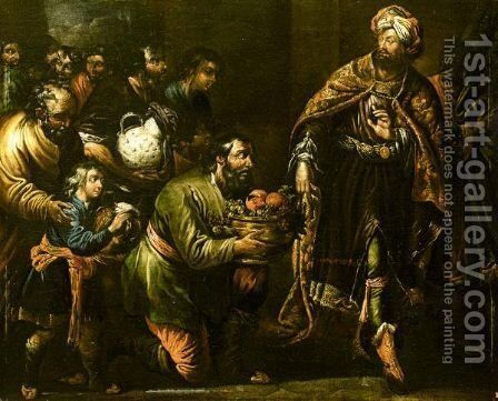 Joseph And His Brother'S by (after) Claude Vignon - Reproduction Oil Painting