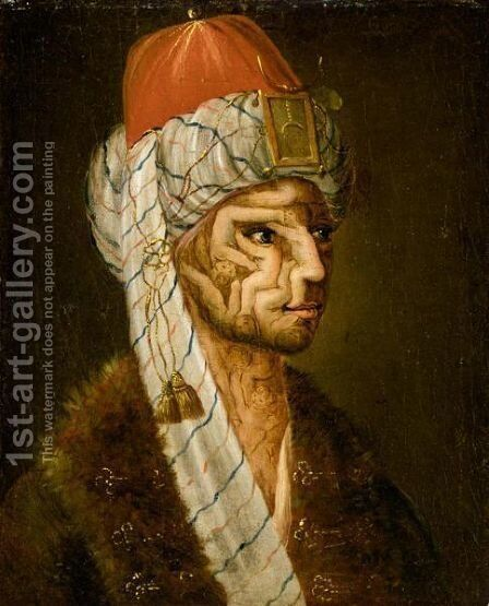 Anthropomorphic Head Of A Turk by (after) Giuseppe Arcimboldo - Reproduction Oil Painting
