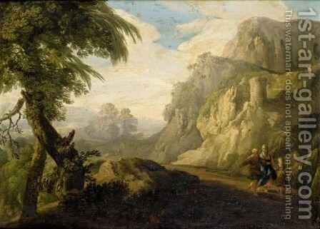 The Flight Into Eygpt by (after) Andrea Locatelli - Reproduction Oil Painting