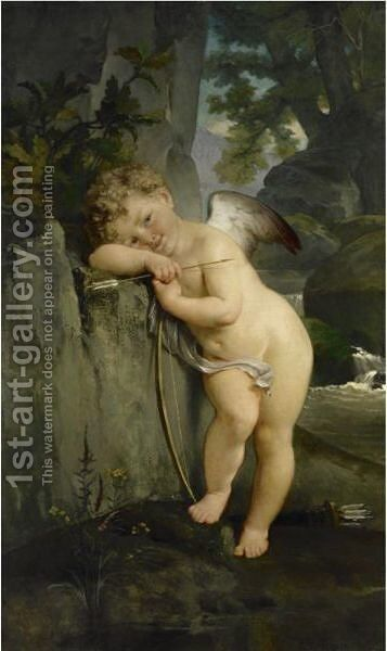 Cupid by Alexis-Joseph Mazerolle - Reproduction Oil Painting