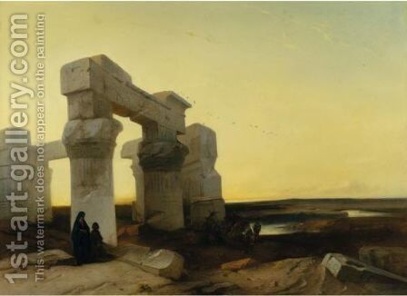 Amidst Egyptian Ruins by Jacobus Jacobs - Reproduction Oil Painting