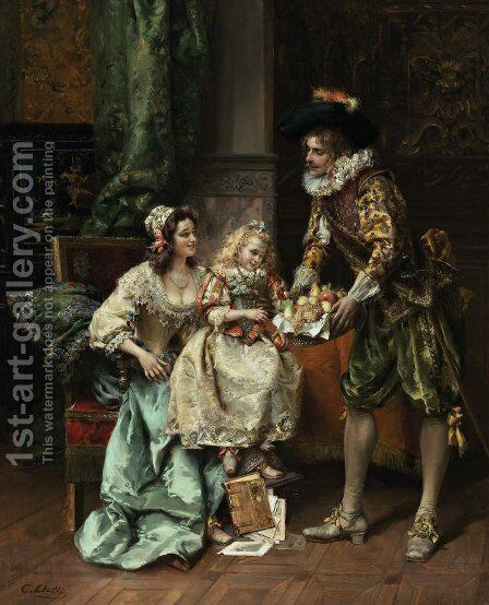 She Picked Her Favorite by Cesare-Auguste Detti - Reproduction Oil Painting