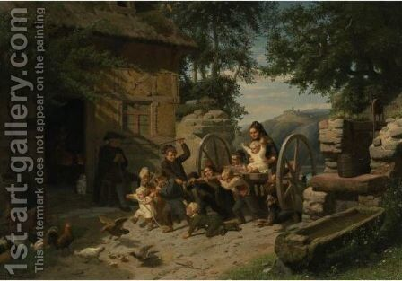 All Creatures Great And Small by Christian Eduard Boettcher - Reproduction Oil Painting