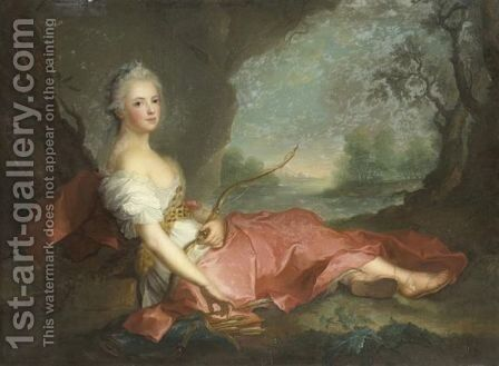 Madame Adelaide En Diane by (after) Jean-Marc Nattier - Reproduction Oil Painting