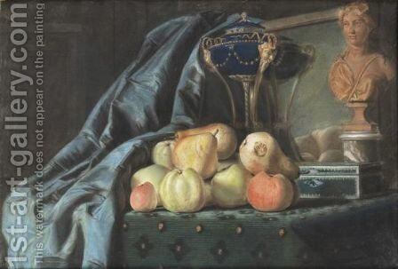 Nature Morte Aux Fruits by Ecole Francaise, Xixeme Siecle - Reproduction Oil Painting