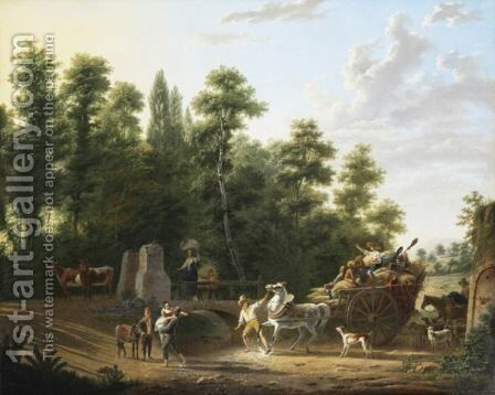 Le Passage Du Gue by Adolphe Roehn - Reproduction Oil Painting