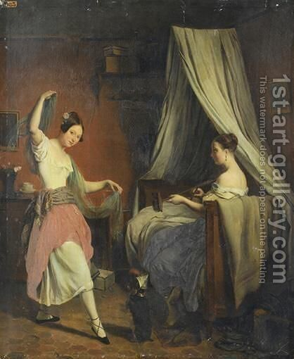 La Danse Improvisee by James Roberts - Reproduction Oil Painting