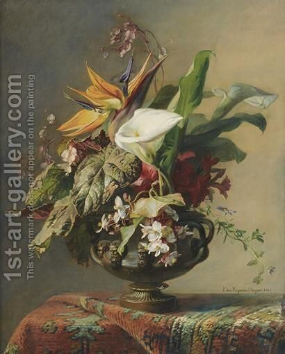 Vase De Fleurs by Elise Puyroche-Wagner - Reproduction Oil Painting