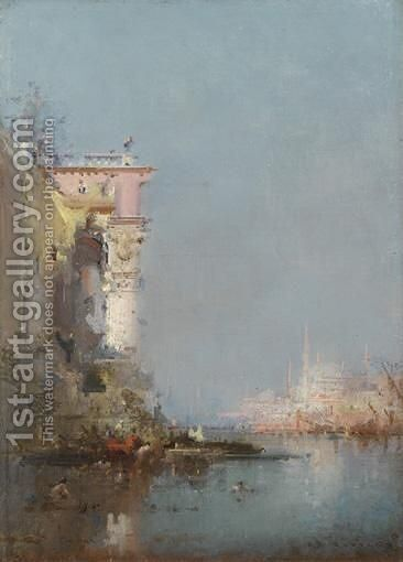 Vue D'Istanbul by Henri Duvieux - Reproduction Oil Painting