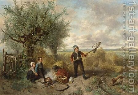 The Unexpected Guest by Jan Mari Henri Ten Kate - Reproduction Oil Painting