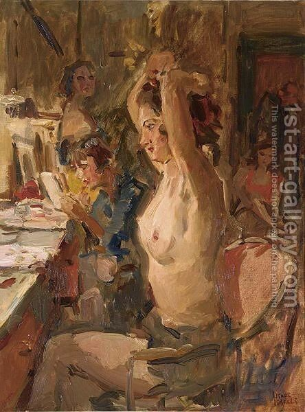 In The Dressing Room Of The Scala Theatre, The Hague by Isaac Israels - Reproduction Oil Painting