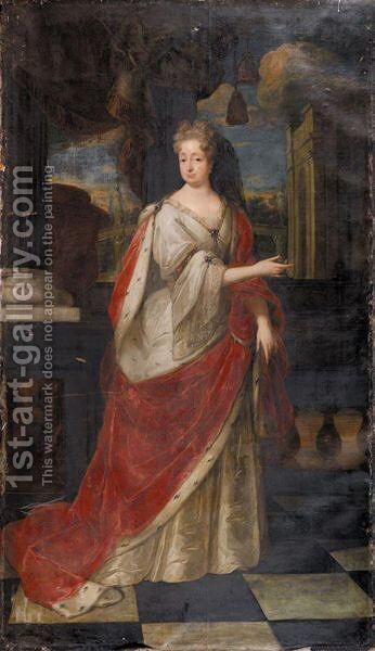 Portrait Von Die Kurfurstin Sophia Von Der Pfaltz by (after) Jacques Vaillant - Reproduction Oil Painting