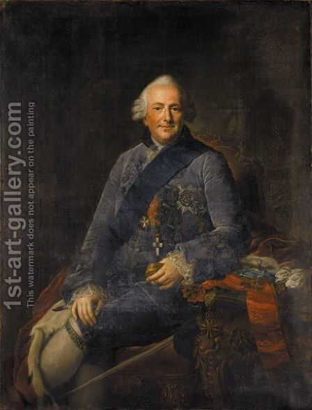 Portrait Of Ferdinand, Duke Of Brunswick- Wolfenbuttel (1721- 1792) by Anna Rosina De Gasc - Reproduction Oil Painting