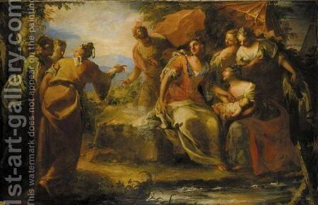 The Finding Of Moses by (after) Giovanni Antonio Pellegrini - Reproduction Oil Painting