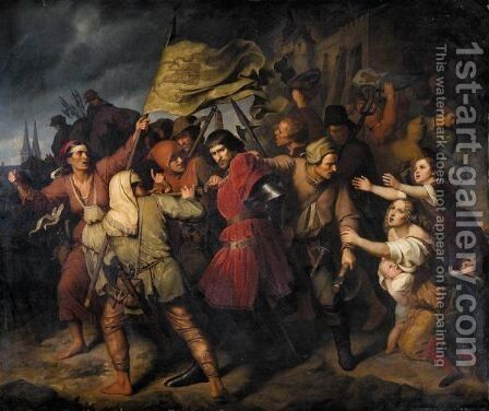 The Capture Of Count Helffenstein by Gustav Metz - Reproduction Oil Painting