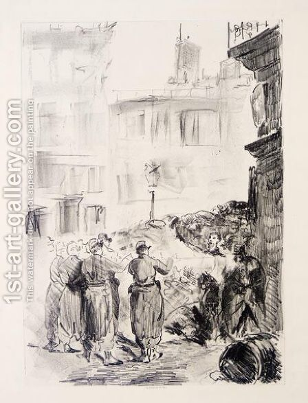 La Barricade by Edouard Manet - Reproduction Oil Painting