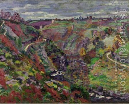 Les Ruines Du Chateau De Crozant 2 by Armand Guillaumin - Reproduction Oil Painting