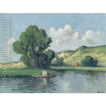 La Seine A Bonnieres by Maximilien Luce - Reproduction Oil Painting