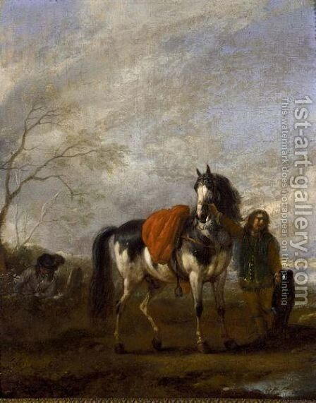 Horseman In A Landscape by (after) Philips Wouwerman - Reproduction Oil Painting