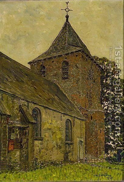 A View Of A Church, Kootwijk by Jan Adam Zandleven - Reproduction Oil Painting