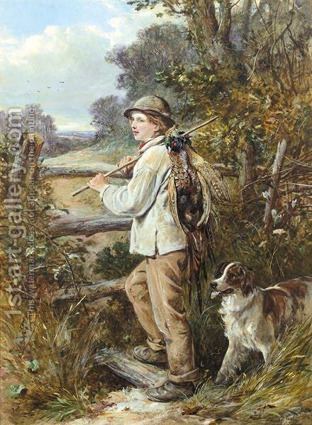 The Young Gamekeeper by James Hardy Jnr - Reproduction Oil Painting