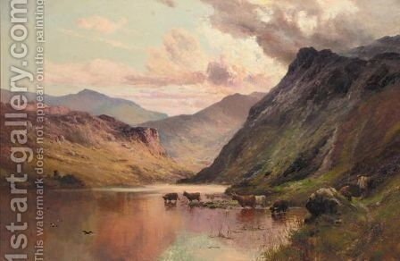 At The Foot Of Kirkstone Pass by Alfred de Breanski - Reproduction Oil Painting