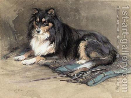A Collie by Edwin Alexander - Reproduction Oil Painting