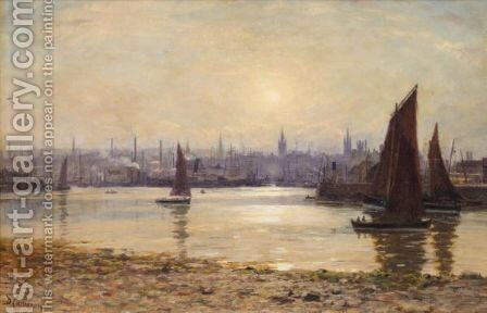 Aberdeen From Torry by Duncan Cameron - Reproduction Oil Painting