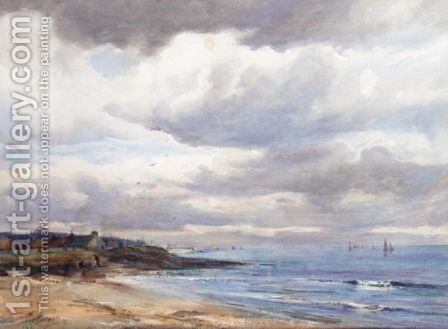 A Morayshire Village 2 by David West - Reproduction Oil Painting